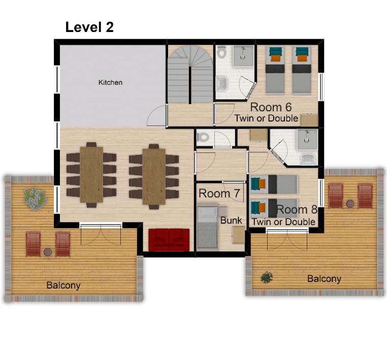 Chalet Amelie Val d'Isere Floor Plan 3
