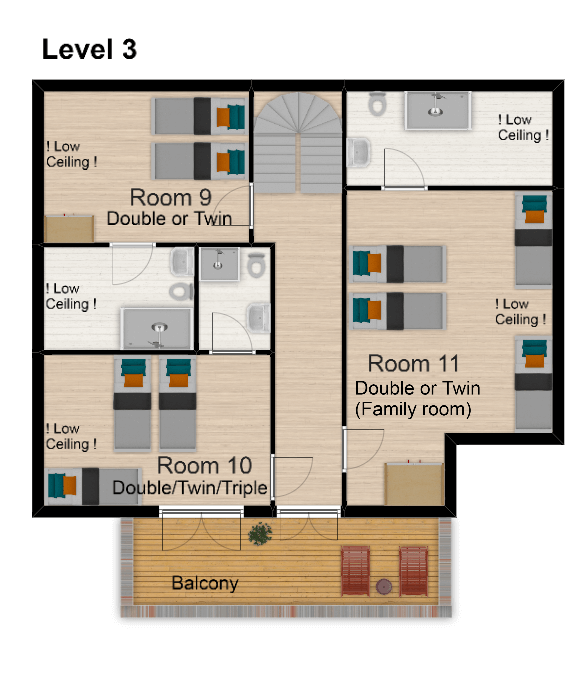 Chalet Amelie Val d'Isere Floor Plan 4