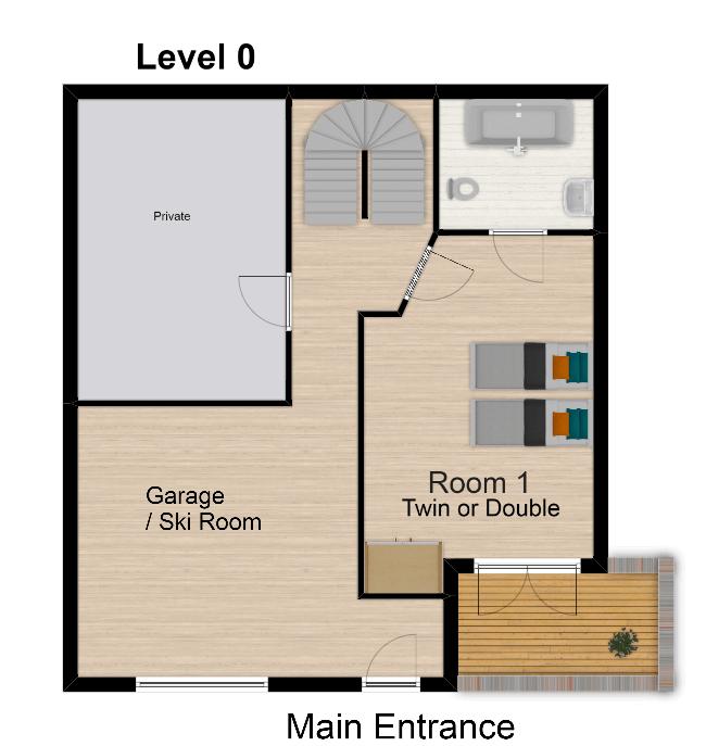 Chalet Belvedere Tignes Floor Plan 1