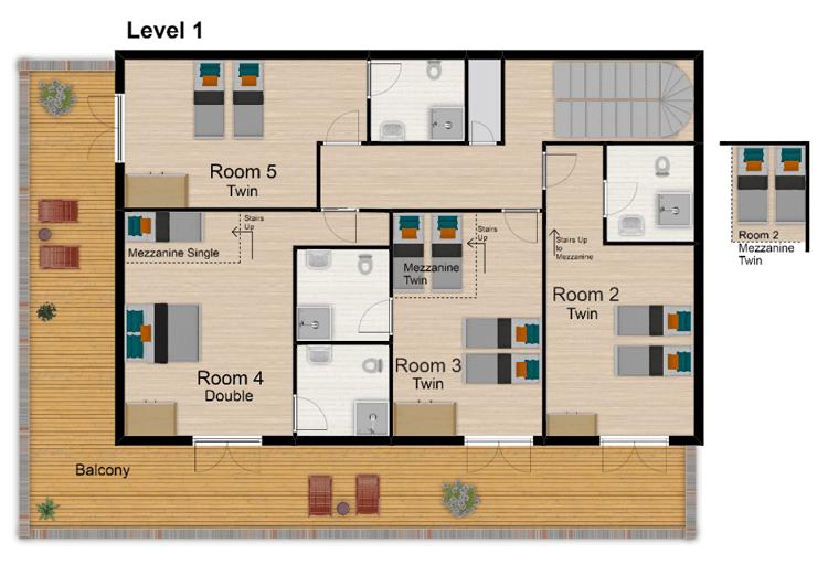 Chalet Bivouac Val d'Isere Floor Plan 2