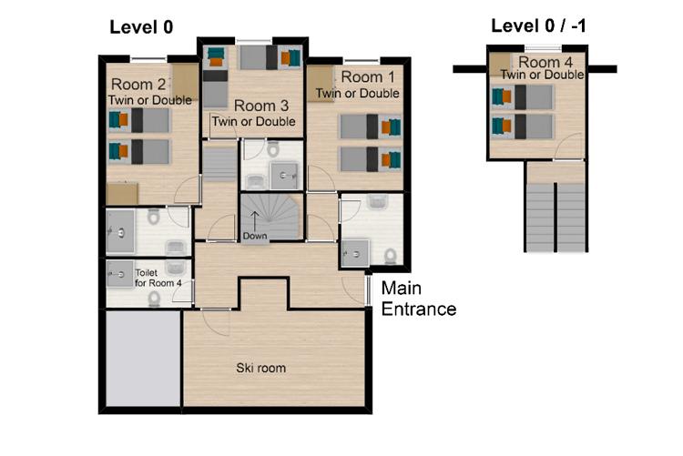 Chalet Boubou Plus Tignes Floor Plan 1