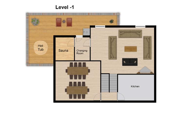 Chalet Boubou Plus Tignes Floor Plan 2