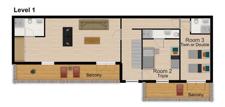 Chalet Hattiers Tignes Floor Plan 2