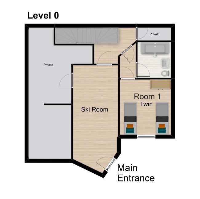 Chalet Isabella Tignes Floor Plan 1