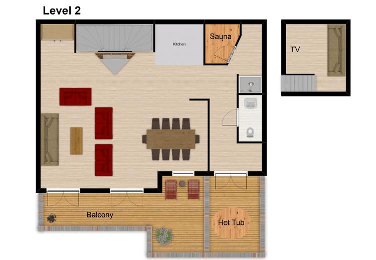Chalet Isabella Tignes Floor Plan 3