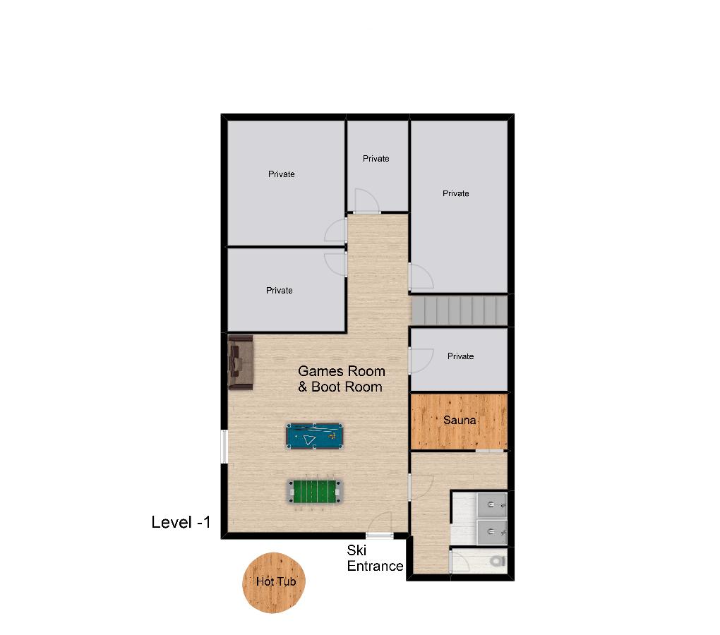 Chalet Rosko Tignes Floor Plan 3