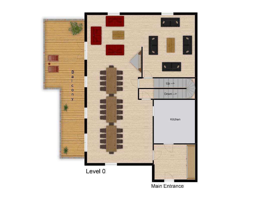 Chalet Rosko Tignes Floor Plan 1