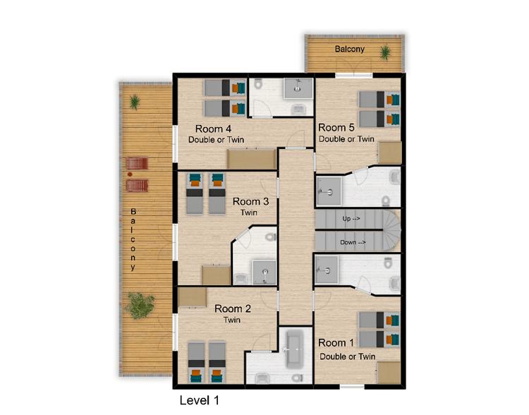Chalet Rosko Tignes Floor Plan 2