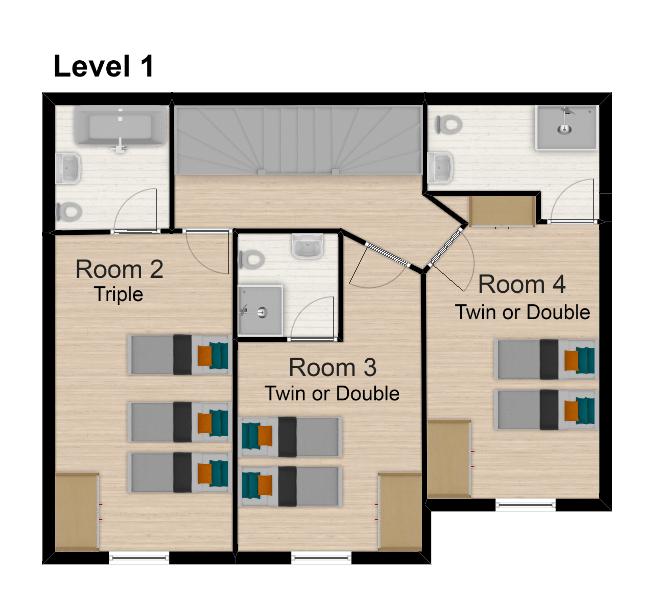 Chalet Sophia Tignes Floor Plan 2