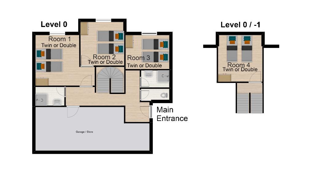 Chalet Val Monte Tignes Floor Plan 1