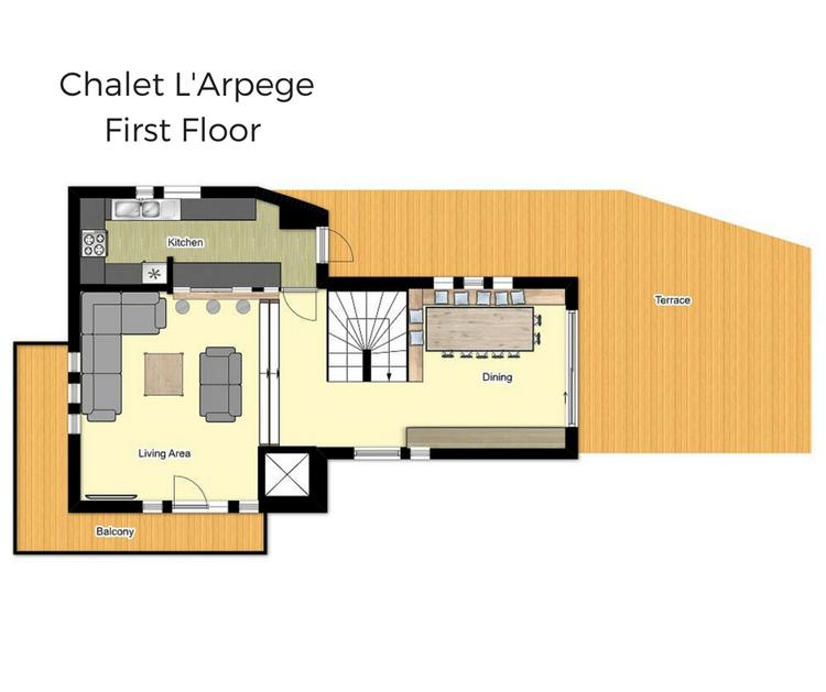 Chalet L'Arpege Meribel Floor Plan 3