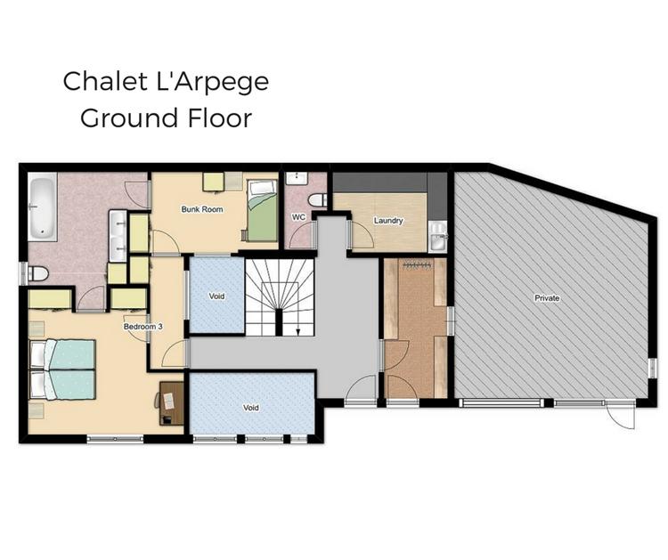 Chalet L'Arpege Meribel Floor Plan 4