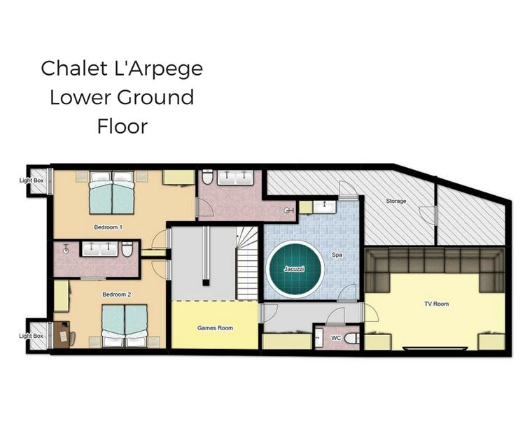 Chalet L'Arpege Meribel Floor Plan 1