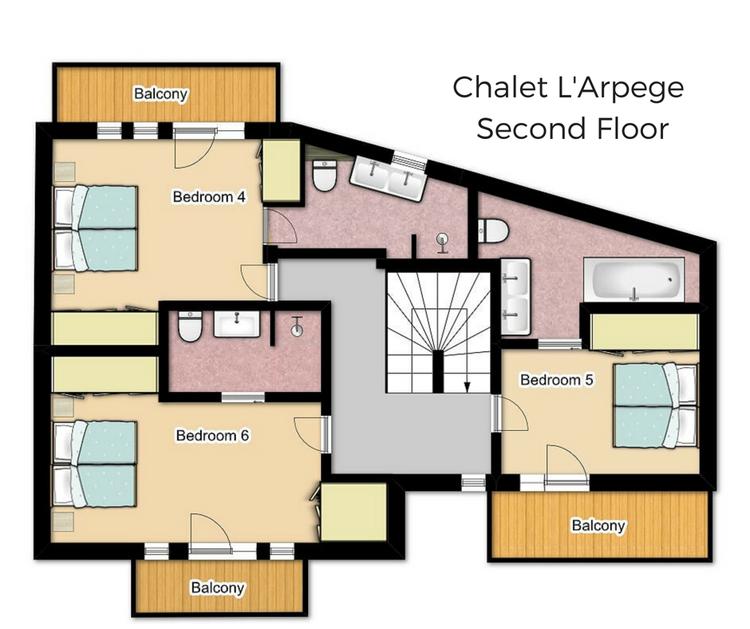 Chalet L'Arpege Meribel Floor Plan 2