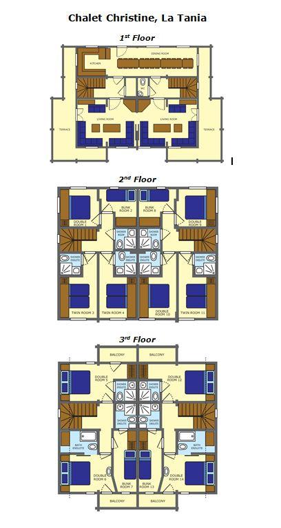 Chalet Christine La Tania Floor Plan 1