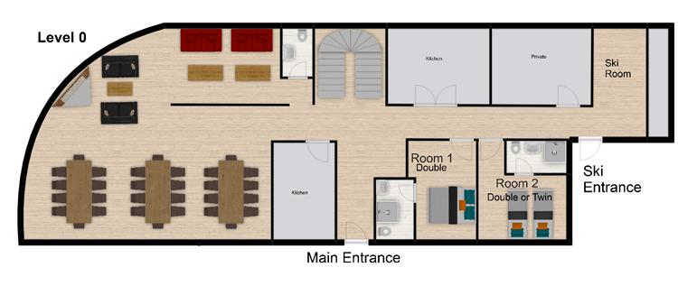 Coeur des Brevieres Tignes Floor Plan 1