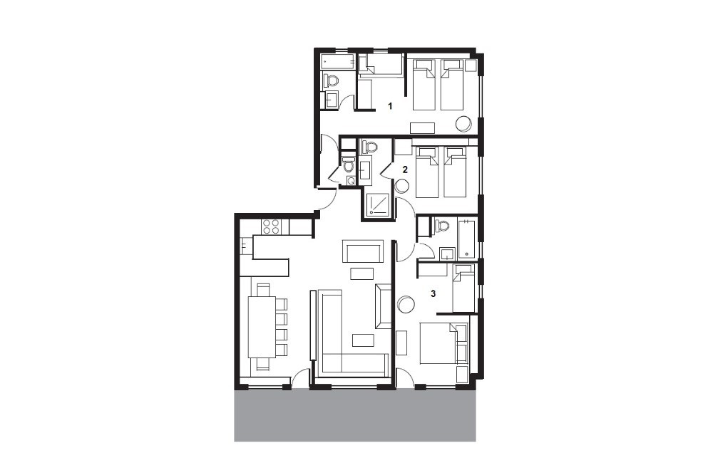 Summit View – Como Suite La Plagne Floor Plan 1