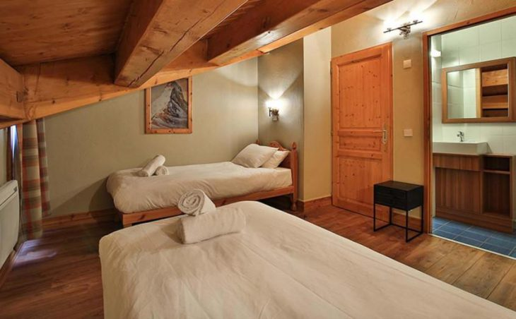 Chalet Coucher du Soleil, Val Thorens, Twin Room