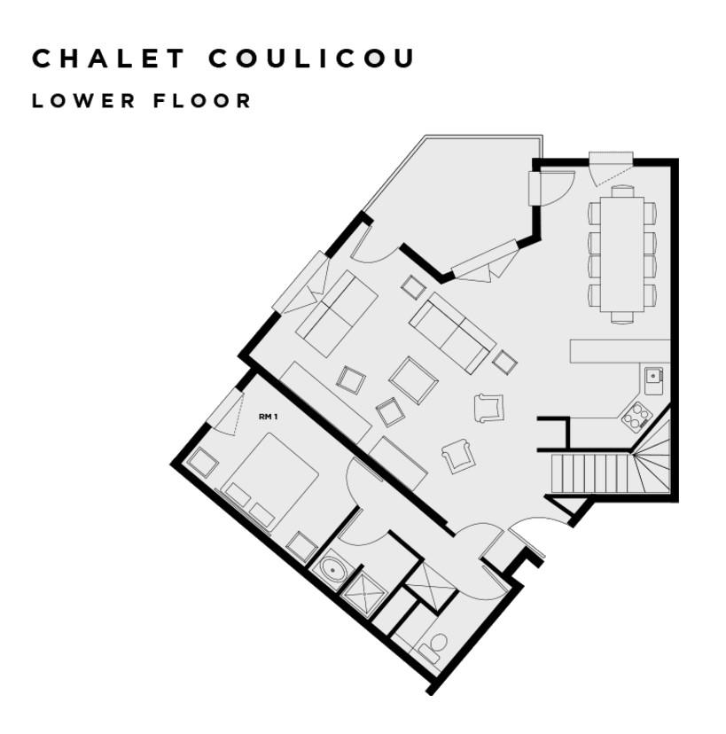 Chalet Coulicou Les Arcs Floor Plan 1