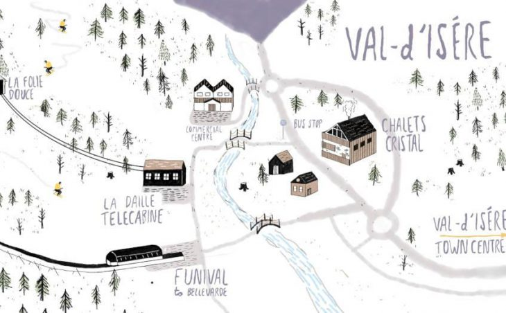 Chalet Cristal, Val dIsere, Map