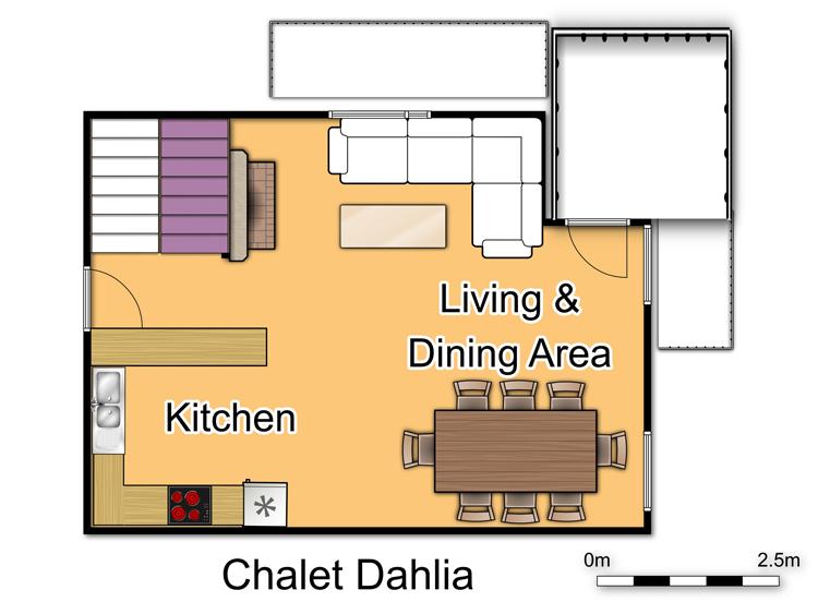 Chalet Dahlia (Family) La Rosiere Floor Plan 3