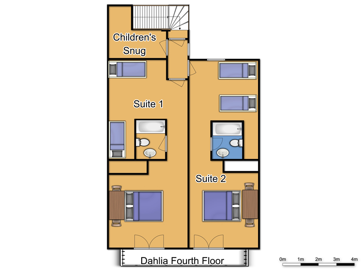 Chalet Dahlia (Family) La Rosiere Floor Plan 1