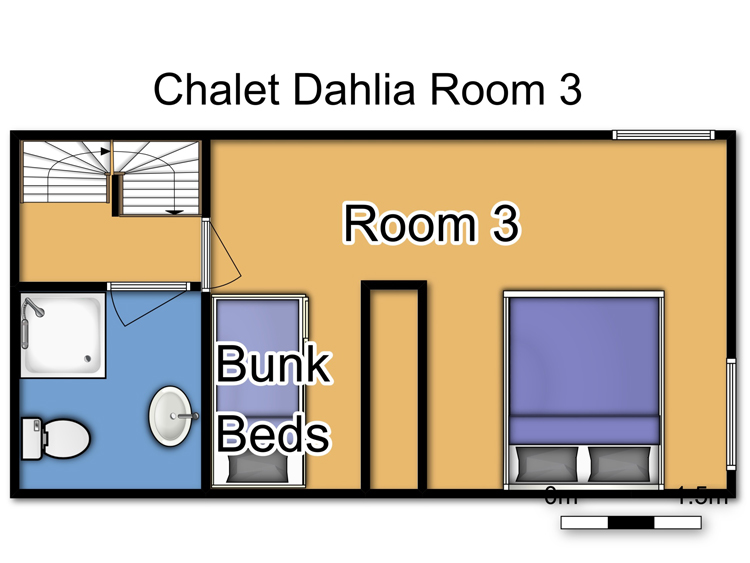 Chalet Dahlia (Family) La Rosiere Floor Plan 2