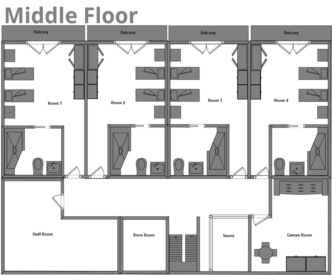 Chalet Edelweiss La Plagne Floor Plan 2