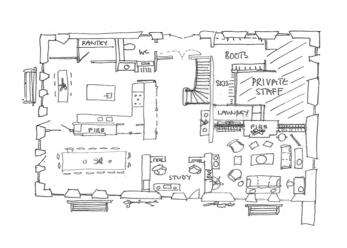 Ferme St Christophe Samoens Floor Plan 1