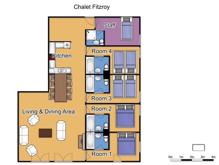 Chalet Fitzroy (Family) Les Arcs Floor Plan 1