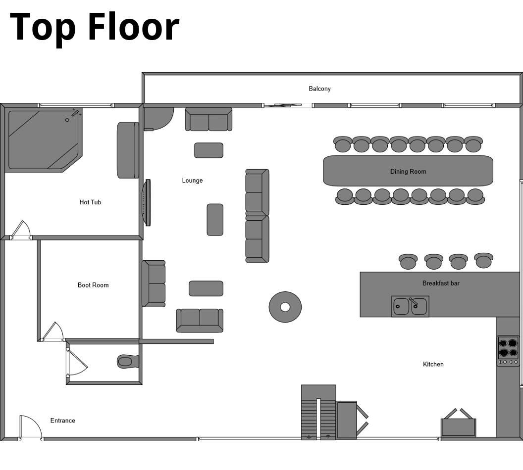 Chalet Flocon La Plagne Floor Plan 1