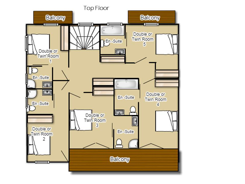The Chalet Chatel Floor Plan 2