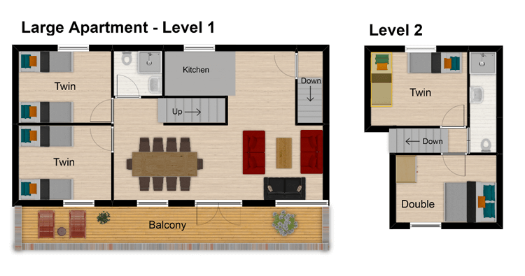 Hattiers Apartment 1 Tignes Floor Plan 1