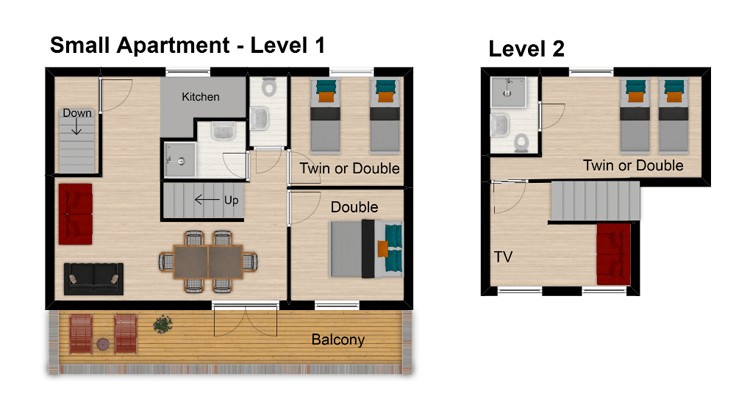 Hattiers Apartment 2 Tignes Floor Plan 1