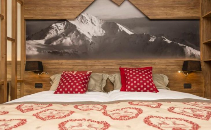 Hotel Du Col, Sestriere, Double Bedroom