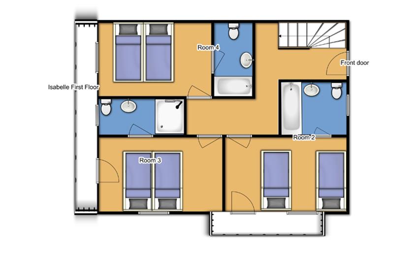 Chalet Isabelle Tignes Floor Plan 1