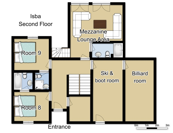 Chalet Isba Meribel Floor Plan 3
