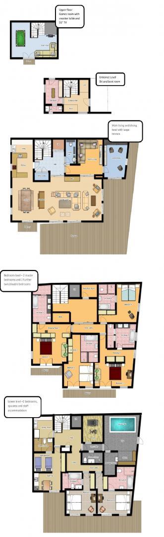 Chalet Le Grenier Meribel Floor Plan 1