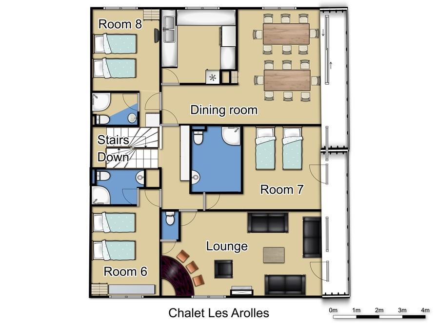 Chalet Les Arolles Tignes Floor Plan 2