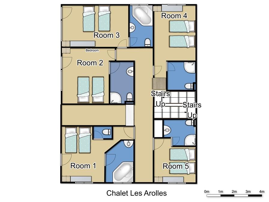 Chalet Les Arolles Tignes Floor Plan 1
