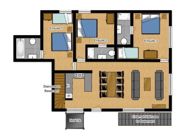 The Little Grange Morzine Floor Plan 1