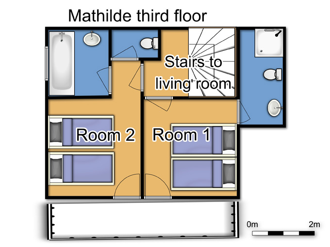 Chalet Mathilde Val Thorens Floor Plan 2