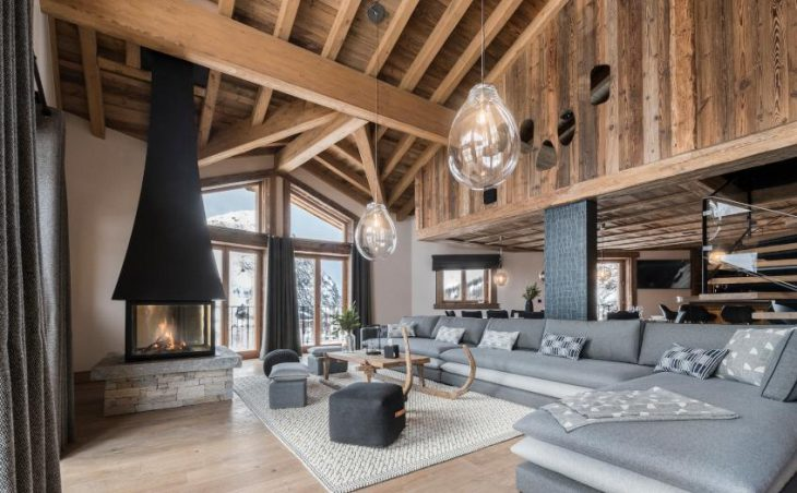 Chalet O Valala, Val d'Isere, Main Seating Area