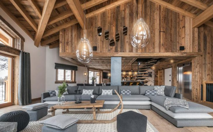 Chalet O Valala, Val d'Isere, Large Sofa