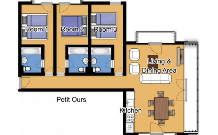 Chalet Petit Ours, Les Arcs, France. Floor plan