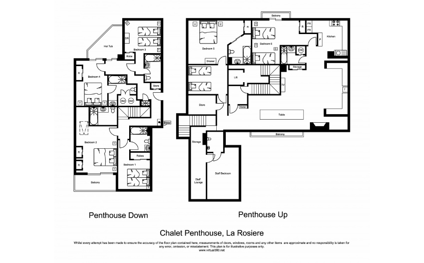The Penthouse La Rosiere Floor Plan 1