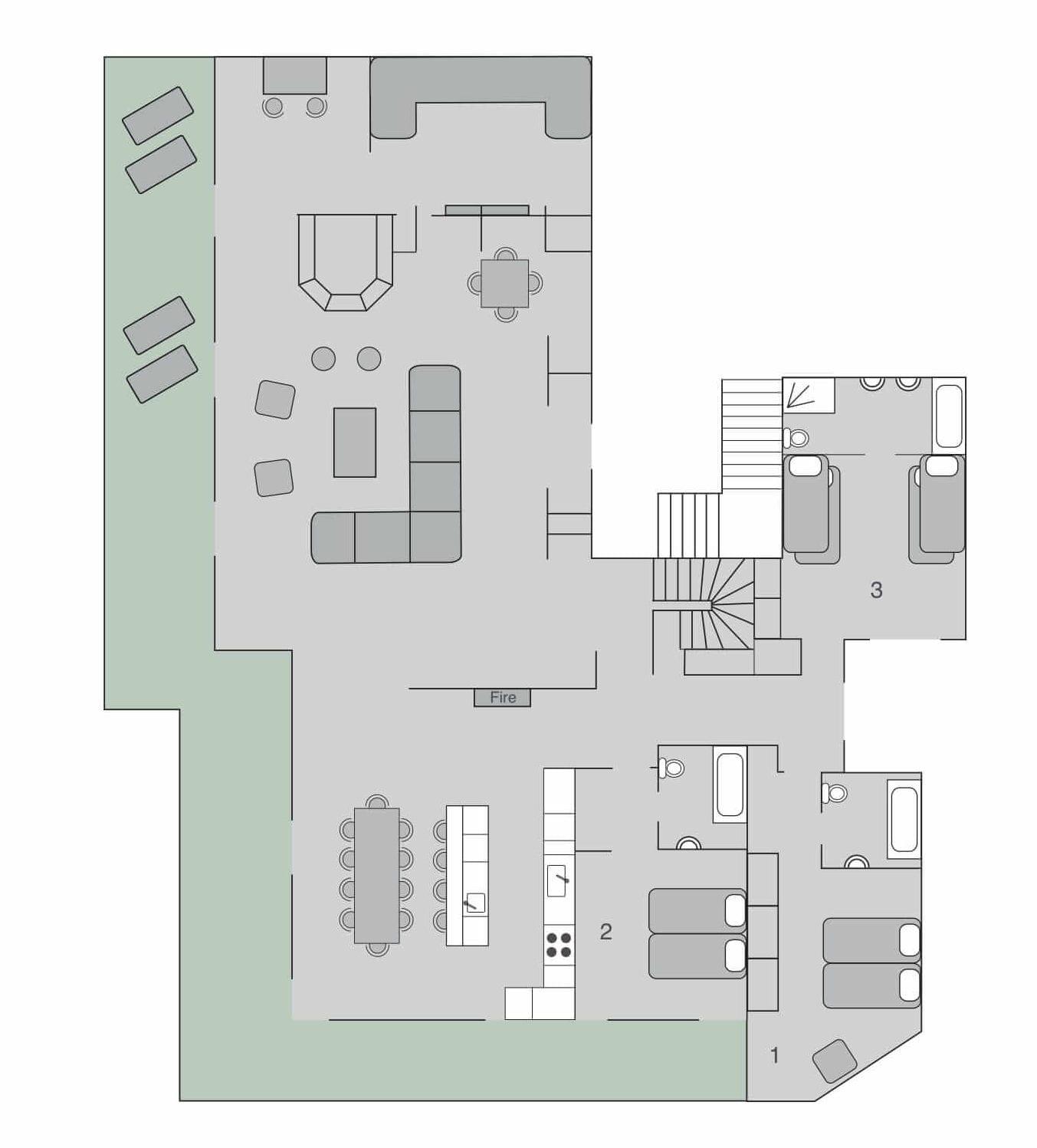 Chalet Place Blanche 1 Verbier Floor Plan 1