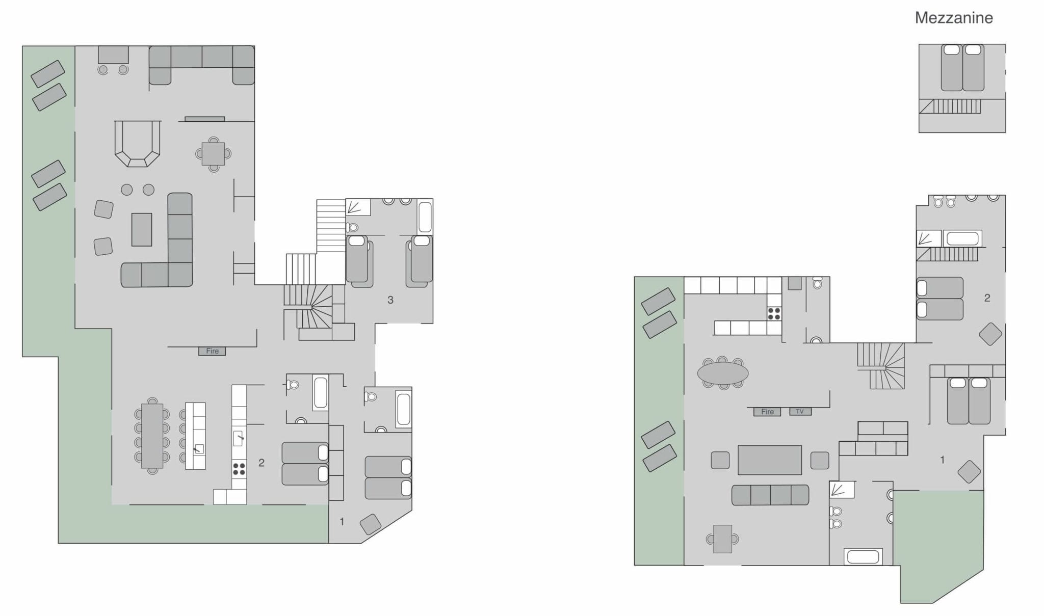 Chalet Place Blanche Verbier Floor Plan 1