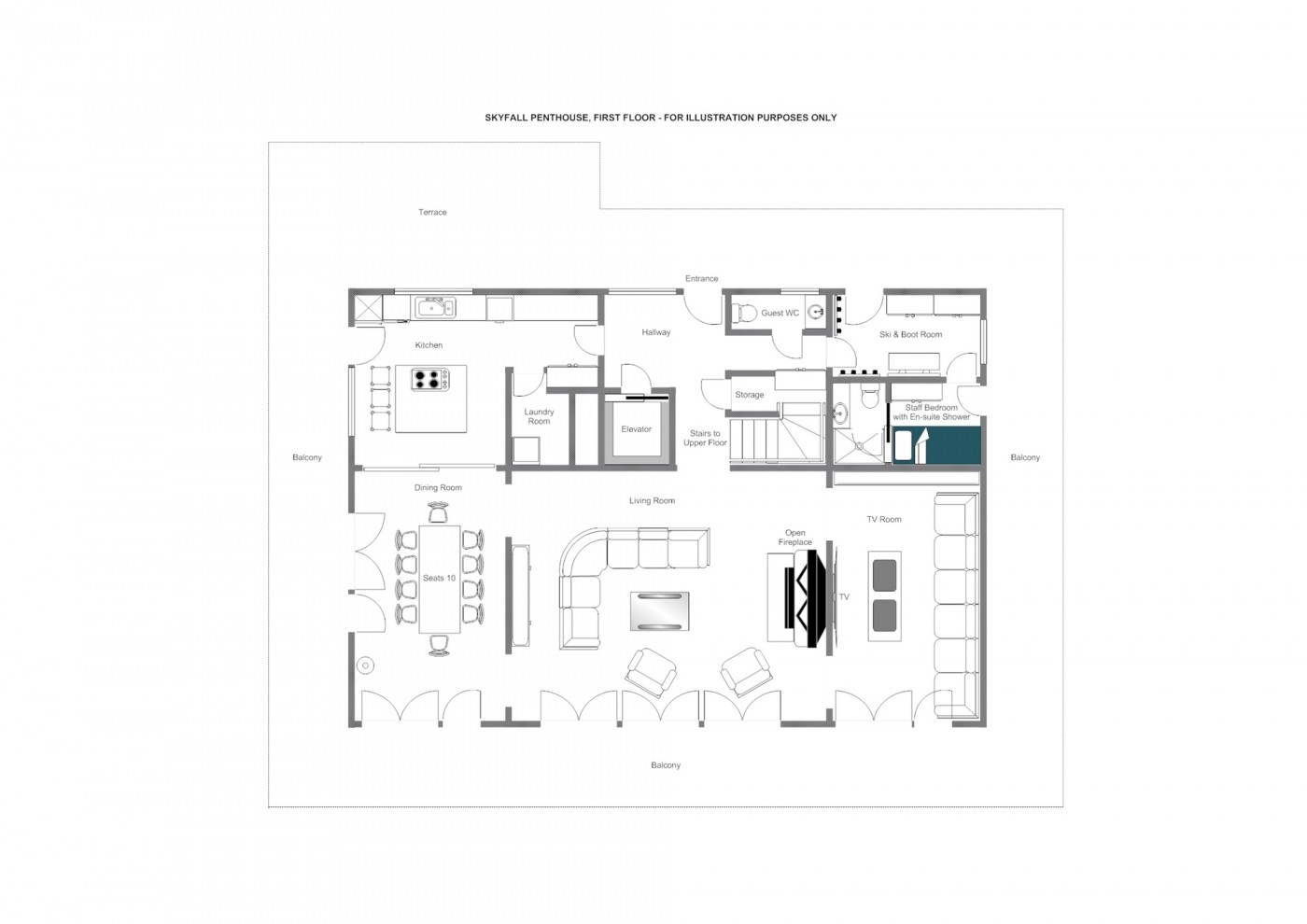 Skyfall Penthouse St Christoph Floor Plan 2