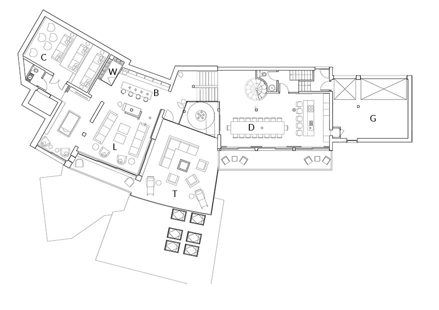 Chalet Tataali Morzine Floor Plan 1